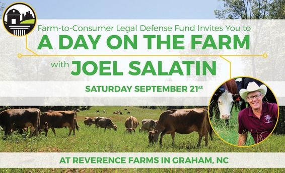 Day on the Farm with Joel Salatin graphic