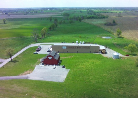Marksbury Farm Market bird's eye view